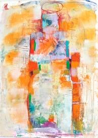 Figure #4 Acrylic, Soft Pastel